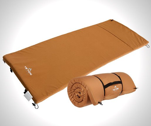 TETON Sports Camp Pad; Camping Sleeping Pad or Mat-Canvas Shell Foam Pad-Pairs Perfectly with TETON Sports Cot