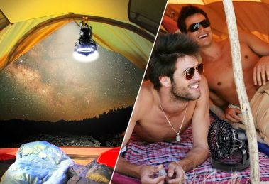 Portable LED Camping Lantern with Ceiling Fan