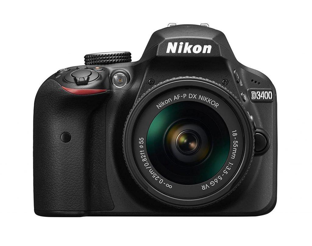 Nikon D3400 w AF P DX NIKKOR 18 55mm f 3.5 5.6G VR Black