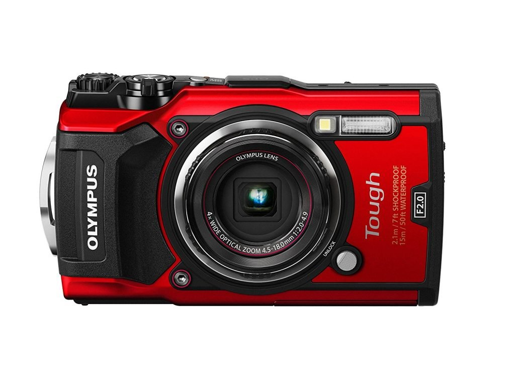 Olympus TG 5 Waterproof Camera with 3 Inch LCD Red V104190RU000