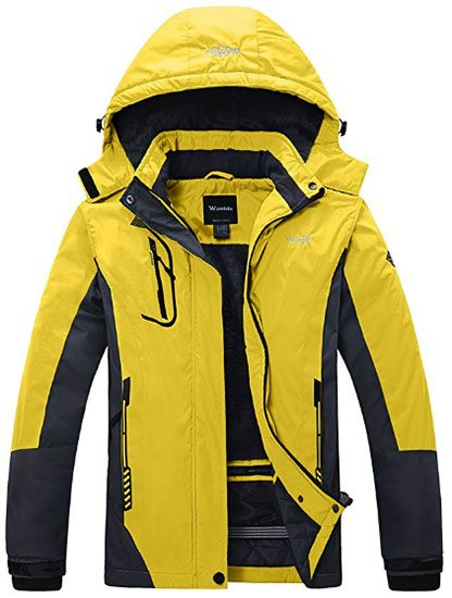 Wantdo Womens Mountain Waterproof Ski Jacket Windproof Rain Jacket