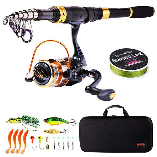 Sougayilang Fishing Rod Reel Combos Carbon Fiber