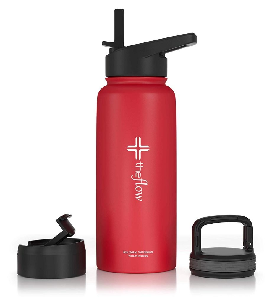 theflow Insulated Water Bottle Large 32oz Stainless Steel Hydro Vacuum Flask